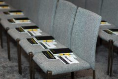 Retail Tomorrow 2020 brochures on chairs
